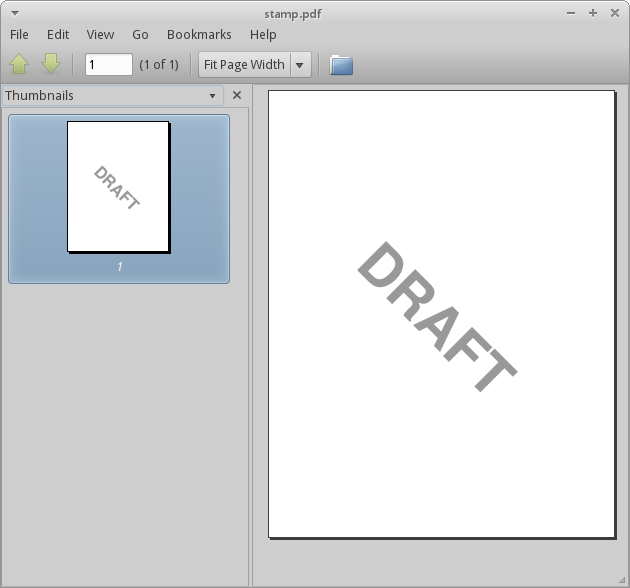 DRAFT stamp PDF in poppler
