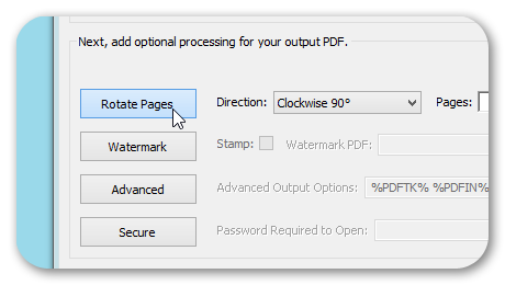 Rotate PDF Pages Option