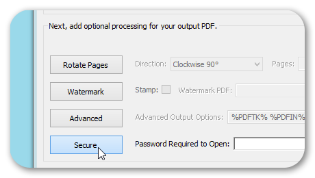 Secure PDF Option