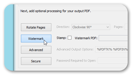 Watermark PDF Option