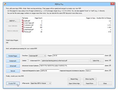 PDFtk Pro Screenshot